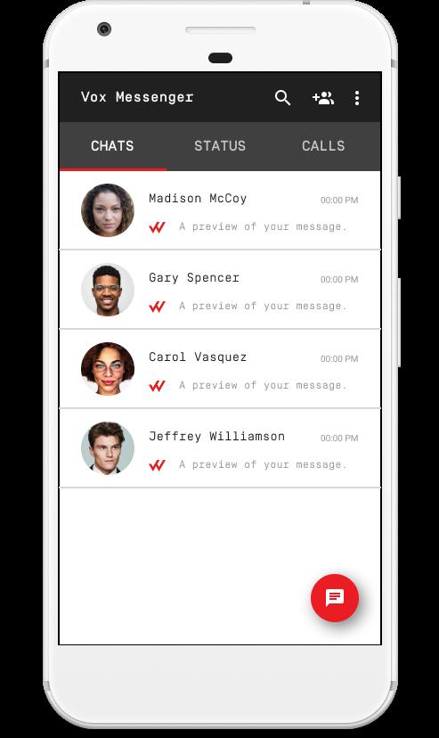 Vox Messenger - App Preview Screen - #4